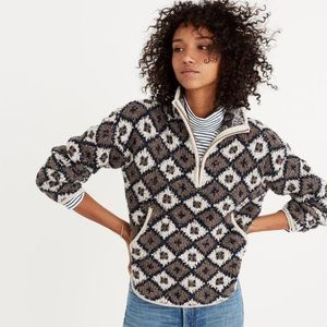 Madewell Cloud Lining 1/2 ZIP Sherpa Pullover